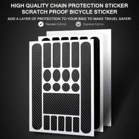 Leia Stiker Frame Sepeda Bike Protective Film Scratch Resistant - 1187 - Black - 2
