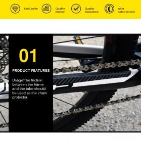 Leia Stiker Frame Sepeda Bike Protective Film Scratch Resistant - 1187 - Black - 3