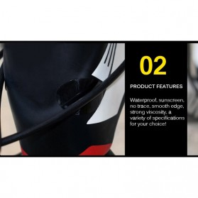 Leia Stiker Frame Sepeda Bike Protective Film Scratch Resistant - 1187 - Black - 4