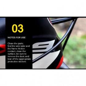 Leia Stiker Frame Sepeda Bike Protective Film Scratch Resistant - 1187 - Black - 5