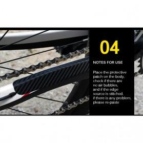 Leia Stiker Frame Sepeda Bike Protective Film Scratch Resistant - 1187 - Black - 6