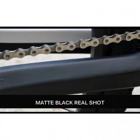 Leia Stiker Frame Sepeda Bike Protective Film Scratch Resistant - 1187 - Black - 8