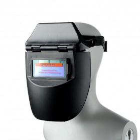 TRUSOXIN Masker Las Otomatis Auto Darkening Safety Welding Mask Flat Flip - YZ10 - Black