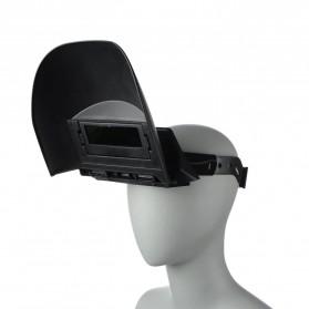 TRUSOXIN Masker Las Otomatis Auto Darkening Safety Welding Mask Flat Flip - YZ10 - Black - 3