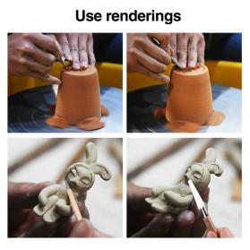 TOOKIE Set Pisau Ukir Pahat Tembikar Ceramic Clay Pottery Sculpting 30 PCS - KSJ-13 - Brown - 10