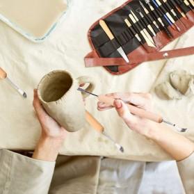 TOOKIE Set Pisau Ukir Pahat Tembikar Ceramic Clay Pottery Sculpting 30 PCS - KSJ-13 - Brown - 4