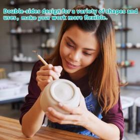 TOOKIE Set Pisau Ukir Pahat Tembikar Ceramic Clay Pottery Sculpting 30 PCS - KSJ-13 - Brown - 5
