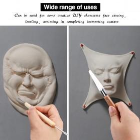 TOOKIE Set Pisau Ukir Pahat Tembikar Ceramic Clay Pottery Sculpting 30 PCS - KSJ-13 - Brown - 7