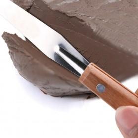 TOOKIE Set Pisau Ukir Pahat Tembikar Ceramic Clay Pottery Sculpting 30 PCS - KSJ-13 - Brown - 9
