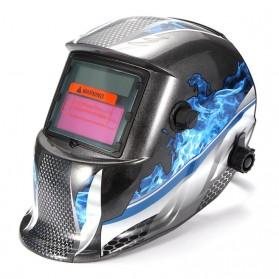 Pelindung Tubuh - ABEDOE Helm Las Otomatis Auto Darkening Welding Helmet - 107T43 - Black/Blue