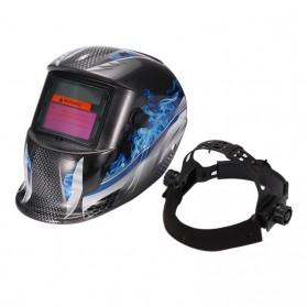 ABEDOE Helm Las Otomatis Auto Darkening Welding Helmet - 107T43 - Black/Blue - 2