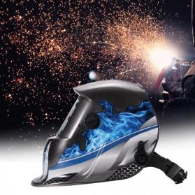 ABEDOE Helm Las Otomatis Auto Darkening Welding Helmet - 107T43 - Black/Blue - 3
