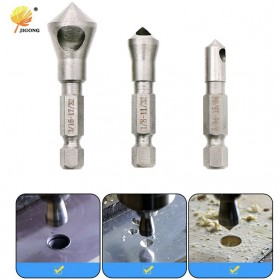 JIGONG Mata Bor Drill Bit Countersink HSS 3 PCS - JGI-KL3 - Silver - 1