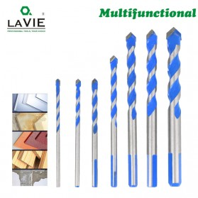 Lavie Mata Bor Triangle Bits Stainless Steel 6mm - L2075 - Silver Blue