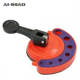 AI-ROAD Alat Bantu Bor Kaca Glass Hole Drill Guide Locator Positioner 4-12mm - AI810 - Orange