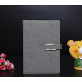 LemonBest Buku Catatan Kerja Cover Kulit Kertas A5 - JSK-2520 - Gray