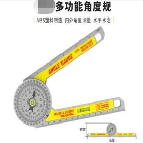 Intelitopia Penggaris 360 Horizontal Angle Gauge Cutting Positioner Plastic - HY1 - Gray - 2