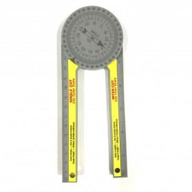 Intelitopia Penggaris 360 Horizontal Angle Gauge Cutting Positioner Plastic - HY1 - Gray - 3