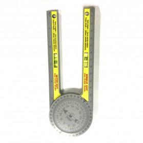 Intelitopia Penggaris 360 Horizontal Angle Gauge Cutting Positioner Plastic - HY1 - Gray - 4