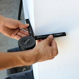 Intelitopia Penggaris 360 Horizontal Angle Gauge Cutting Positioner Plastic - HY1 - Gray - 6
