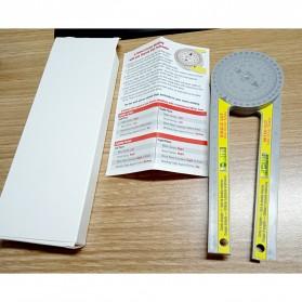 Intelitopia Penggaris 360 Horizontal Angle Gauge Cutting Positioner Plastic - HY1 - Gray - 8