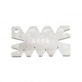HUXUAN Penggaris Sudut Kemiringan Angle Gauge Measuring Tools - HK4 - Silver