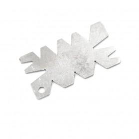 HUXUAN Penggaris Sudut Kemiringan Angle Gauge Measuring Tools - HK4 - Silver - 5
