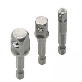 JIGONG Mata Obeng Elektrik Adapter Extension Drill Bits Hex Shank 1/4 3/8 1/2 3 PCS - LK006 - Multi-Color - 4