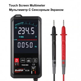 WinAPEX Pocket Size Digital Multimeter Touchscreen AC/DC Voltage Tester - ET8138 - Black - 1