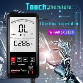 WinAPEX Pocket Size Digital Multimeter Touchscreen AC/DC Voltage Tester - ET8138 - Black - 2