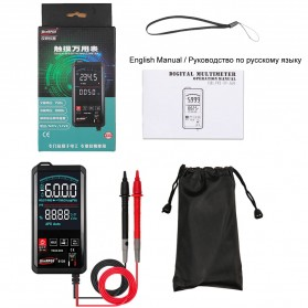 WinAPEX Pocket Size Digital Multimeter Touchscreen AC/DC Voltage Tester - ET8138 - Black - 5