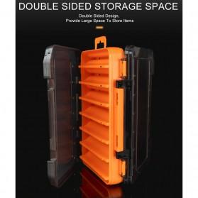 KINGDOM Kotak Perkakas Kail Umpan Pancing Fishing Box 14 Slot - LYH-1017 - Orange - 4