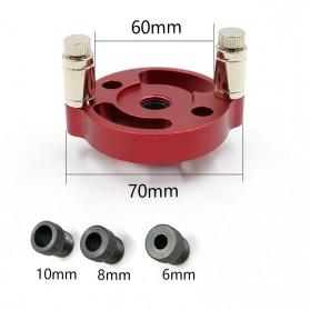 Alloet Alat Bantu Bor Vertical Pocket Hole Jig Drill Locator Centering 6/8/10mm Round - JJ2027 - Red - 3