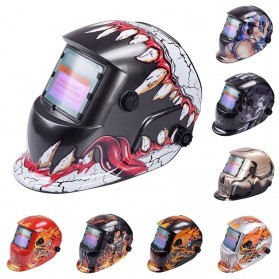 VERMARK Helm Las Otomatis Auto Darkening Welding Helmet - HW-012 - Black/Blue - 2