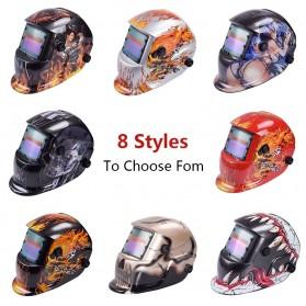 VERMARK Helm Las Otomatis Auto Darkening Welding Helmet - HW-012 - Black/Blue - 3