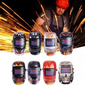 VERMARK Helm Las Otomatis Auto Darkening Welding Helmet - HW-012 - Black/Blue - 4
