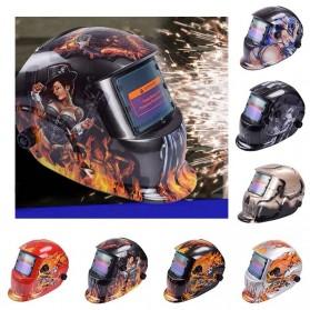 VERMARK Helm Las Otomatis Auto Darkening Welding Helmet - HW-012 - Black/Blue - 5