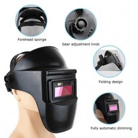 VERMARK Helm Las Otomatis Auto Darkening Welding Helmet - HW-012 - Black/Blue - 6