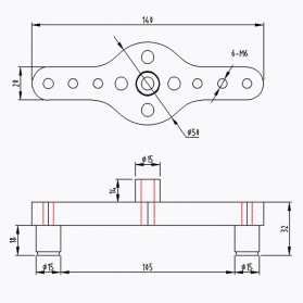 Alloet Alat Bantu Bor Vertical Pocket Hole Jig Drill Locator Centering 6/8/10mm Oval - JJ2027 - Red - 6