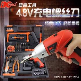 DCTools Set Bor Listrik Gergaji Tang Cordless Screwdriver  47 in 1 4.8V - S019-4.8V - Red