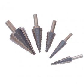 Drillpro Mata Bor Pagoda Spiral Drill Step Down Titanium HSS 5 PCS - BIHH480