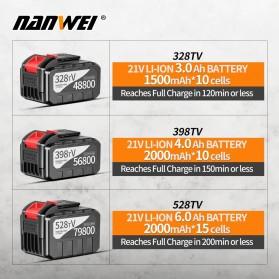 NANWEI Kunci Pas Listrik Cordless Lithium Battery Rechargeable - 398tV - Black - 4