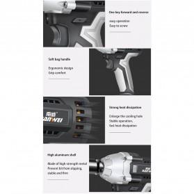NANWEI Kunci Pas Listrik Cordless Lithium Battery Rechargeable - 398tV - Black - 11