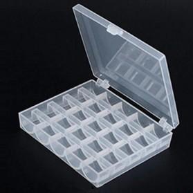 OZXHIXU Kotak Benang Jahit Sewing Machine Bobbins Spools Storage Box with 25 Gulungan Benang - OZ234 - Transparent - 3