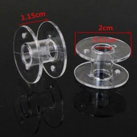 OZXHIXU Kotak Benang Jahit Sewing Machine Bobbins Spools Storage Box with 25 Gulungan Benang - OZ234 - Transparent - 5