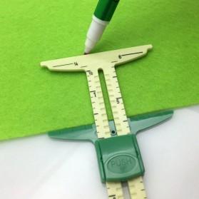 HIXU Penggaris Ukur Jahit Sliding Gauge Sewing Measuring Ruler - ST-A23 - Yellow