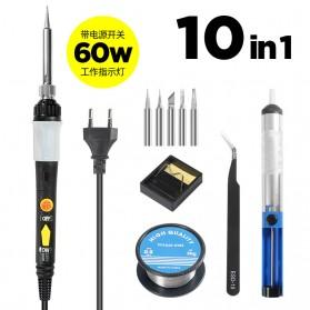 OLOEY Solder 10in1 Adjustable Temperature LCD Display 220V 60W - OCE60 - Black