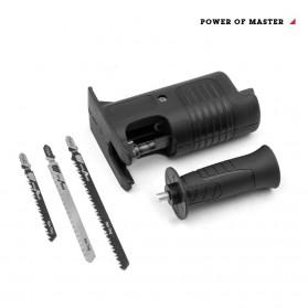 XMSJ Konektor Modifikasi Bor Listrik Tangan Jadi Mesin Gergaji - BG65-A - Black