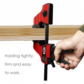 Speed Squeeze Ratcheting Clamp Penjepit Kayu 4 Inch - T22106 - Red