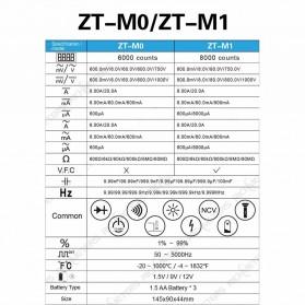 ZOYI Digital Multimeter Voltage Tester - ZT-M1 - Black - 6